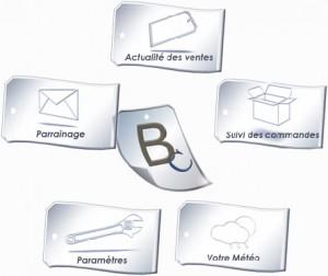 ClicJet, le widget Bazarchic