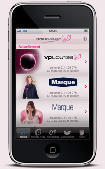 vente priv e sort son application iphone. Black Bedroom Furniture Sets. Home Design Ideas