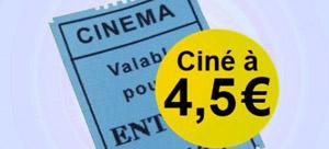 Places Pathé Gaumont à 4,5€