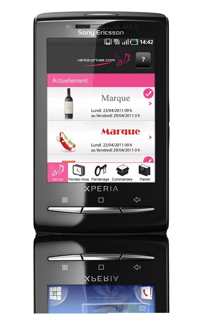 Application Android de Vente-Privee.com