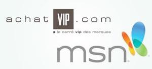 AchatVIP devient partenaire de MSN