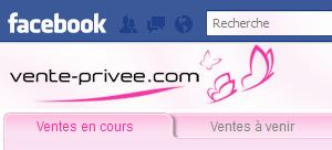 L'application Facebook de Vente Privée